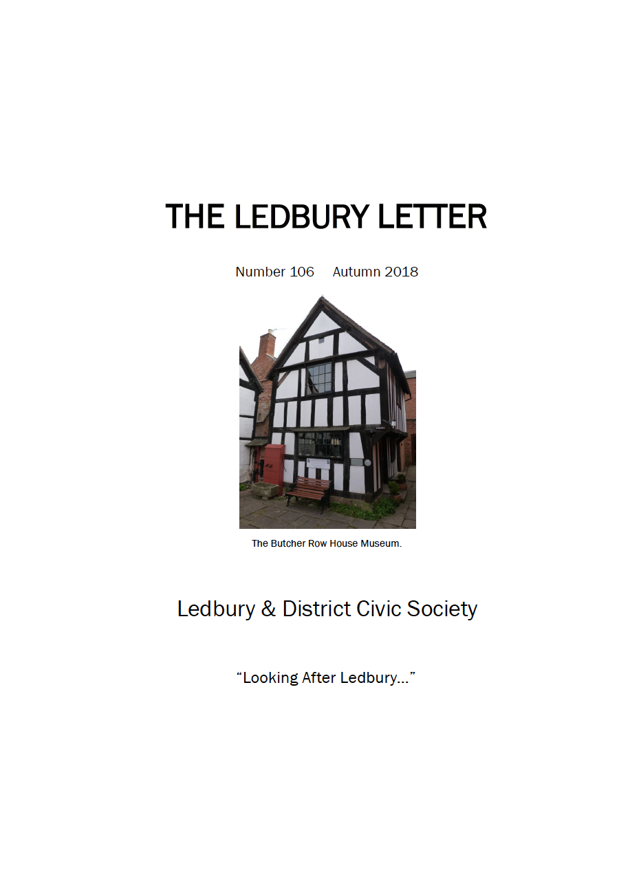 The front cover of theAutumn 2018 edition of The Ledbury Letter