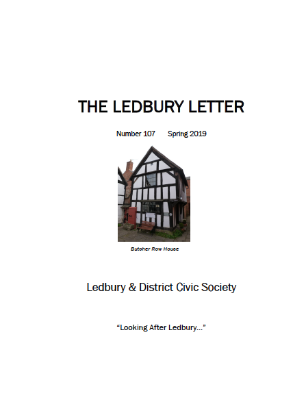 The front cover of the Spring 2019 edition of The Ledbury Letter